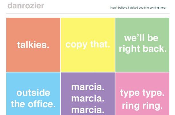 dan rozier copywriter portfolio layout