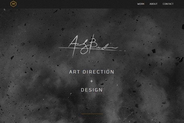 andrew burden designer artist dark website