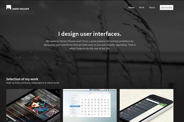 davey heuser ui designer dark portfolio