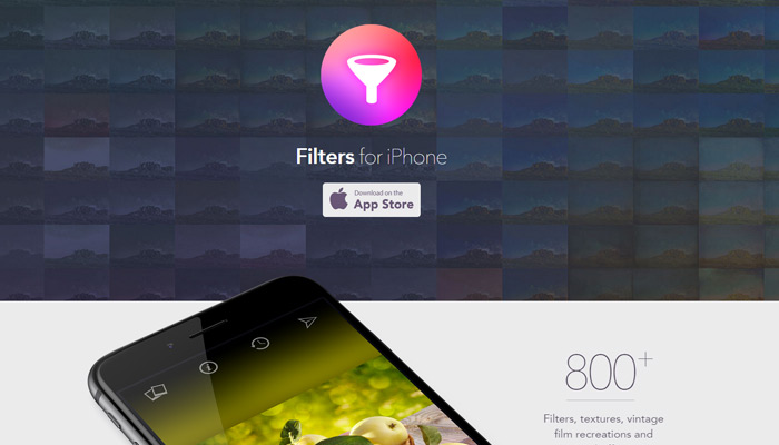 filters for iphone app