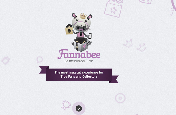 fannabee website scrolling animation layout