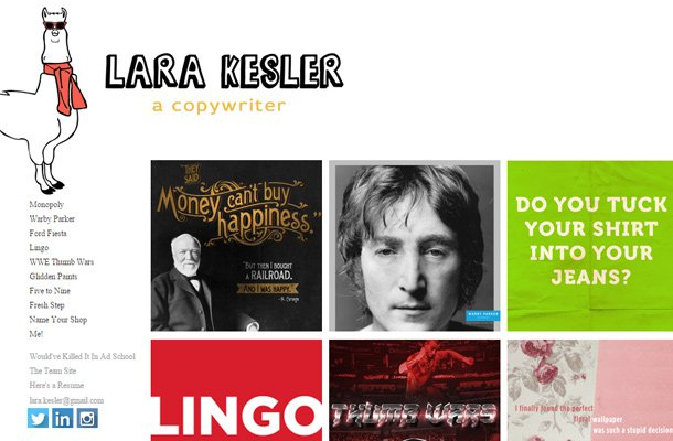 lara kesler copywriter website designer