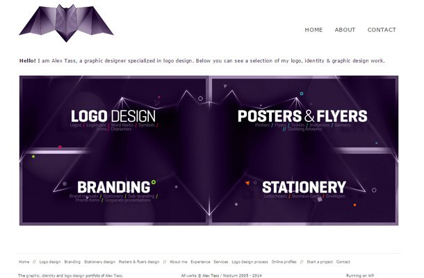 alex tass clean website layout
