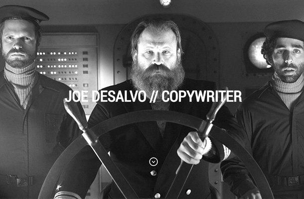 joe desalvo copywriter personal portfolio