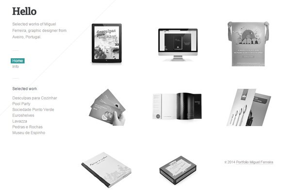 miguel ferreira clean website layout design