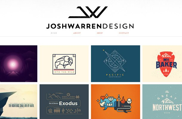 josh warren design portfolio website layout