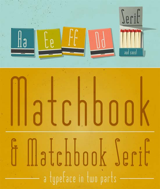 Matchbook Typefaces