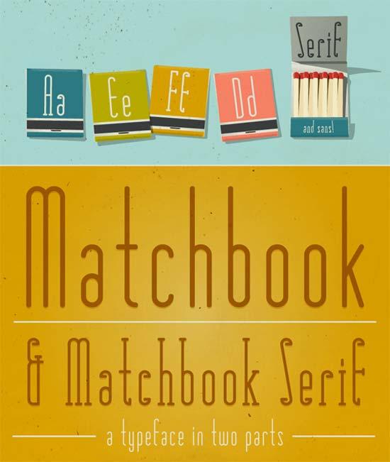 Matchbook Typefaces