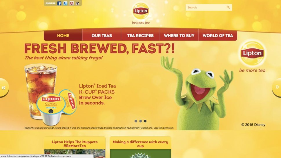 Lipton Tea Website