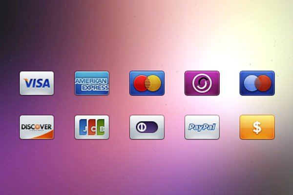 glossy credit card bevel icons freebie
