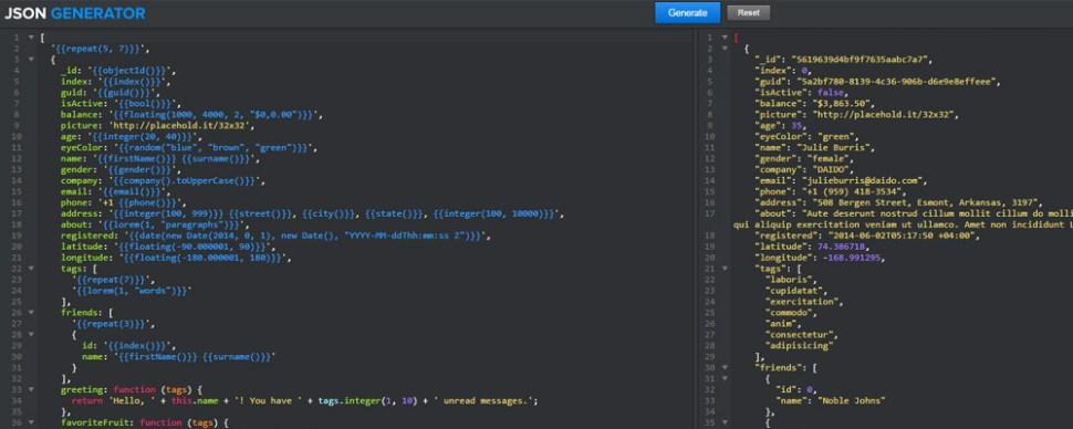 JSON Generator webapp