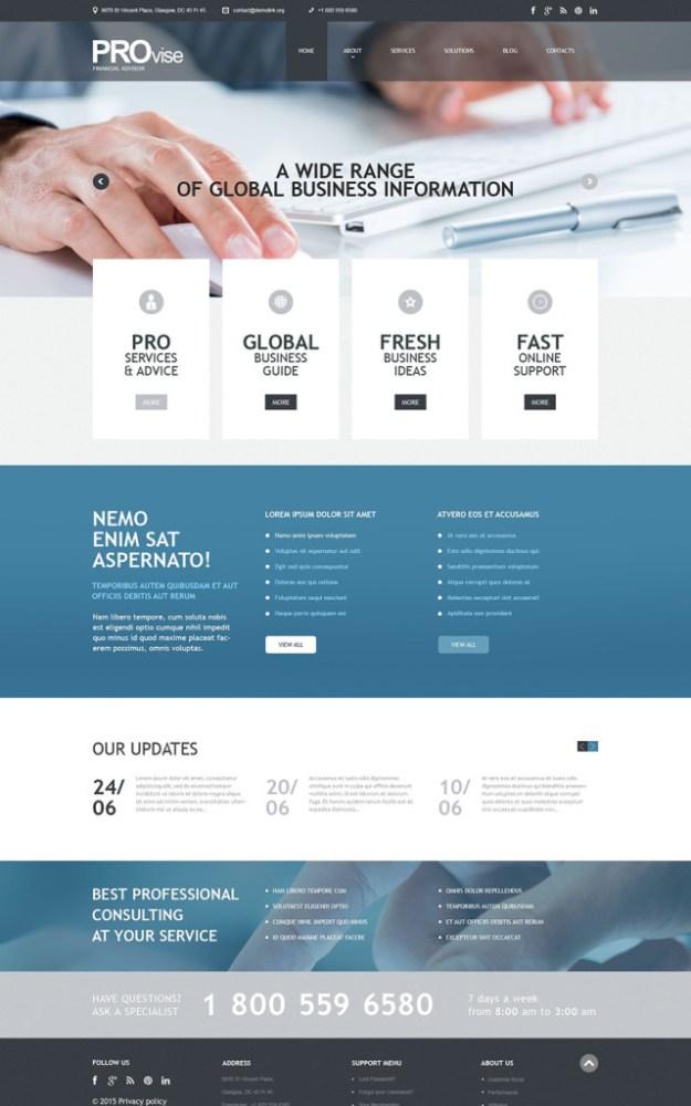 4 business wordpress template