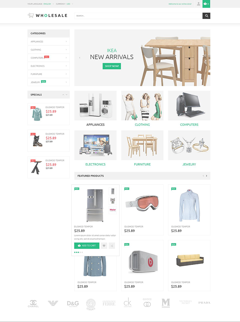 Warehouse Magento Theme