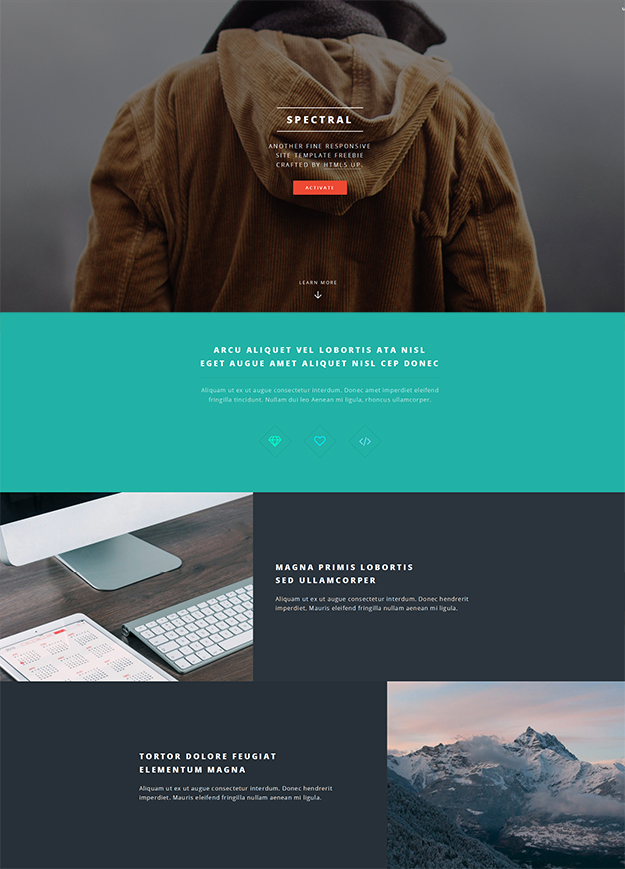 Free HTML5 website template - Spectral