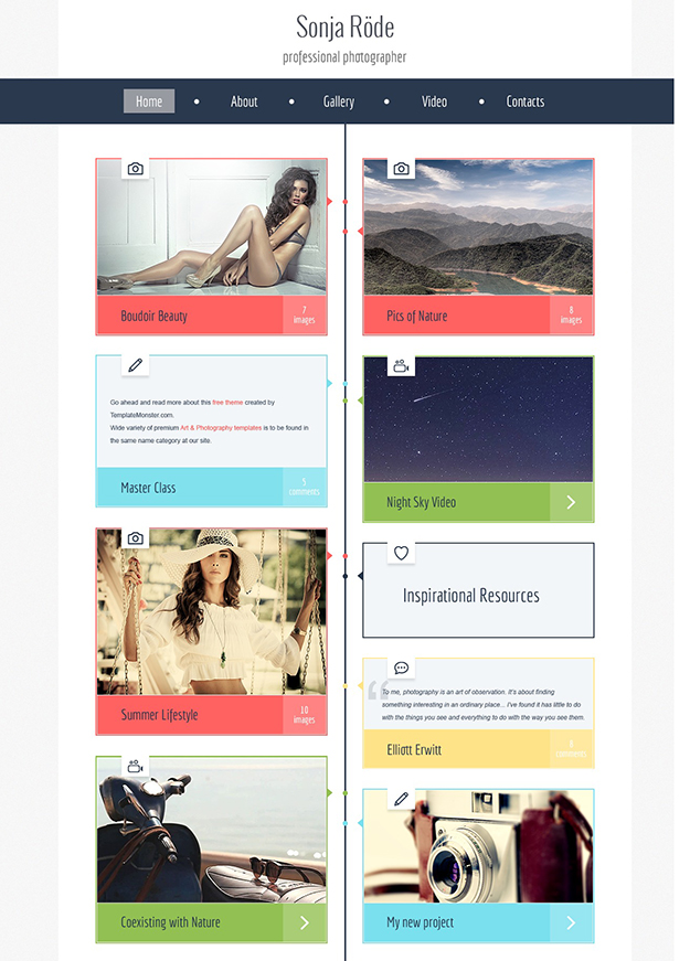 photography - free website template
