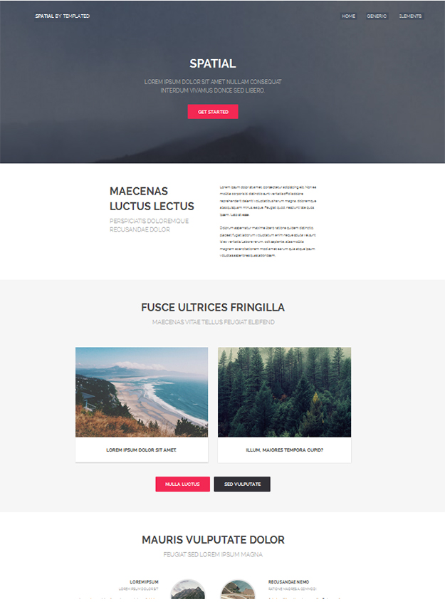 spatial - free html5 template