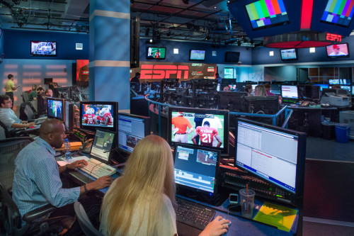 Bristol, CT - August 17, 2013: ESPN's screening room - 6:32 PM (Photo by Rich Arden / ESPN Images)