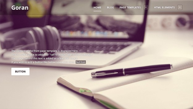 Goran - one of 20 free wordpress themes for business consultants