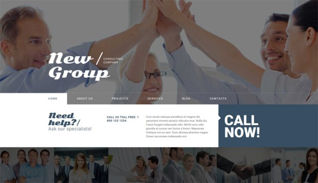 New-Group - one of 20 free wordpress themes for business consultants