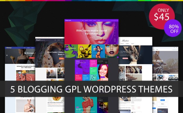 blogging gpl wordpress themes bundle
