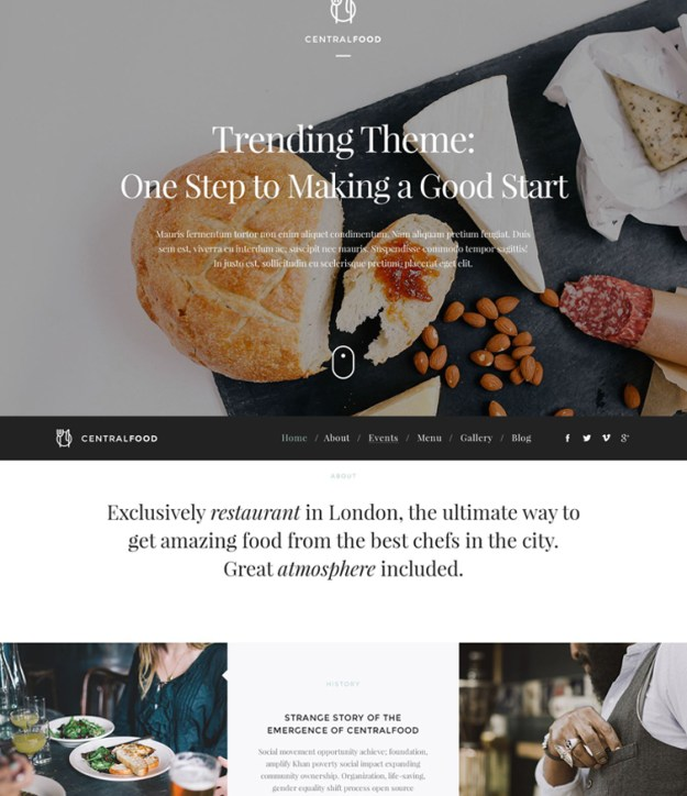 centralfood - one of the best blogging WordPress themes
