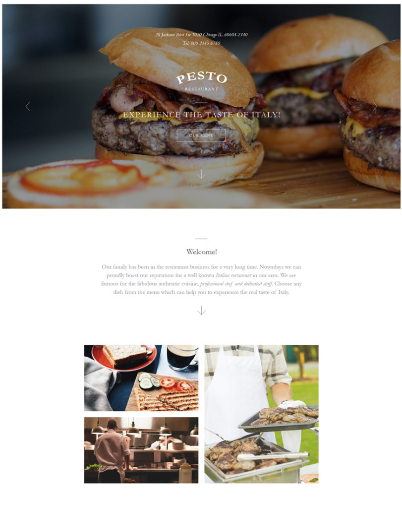 italian-restaurant Landing Page Template