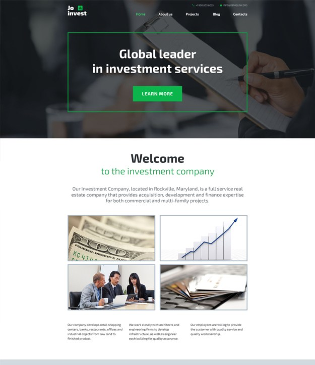 jo-invest blogging WordPress theme