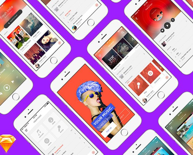music-app-free-ui-kit-for-sketch
