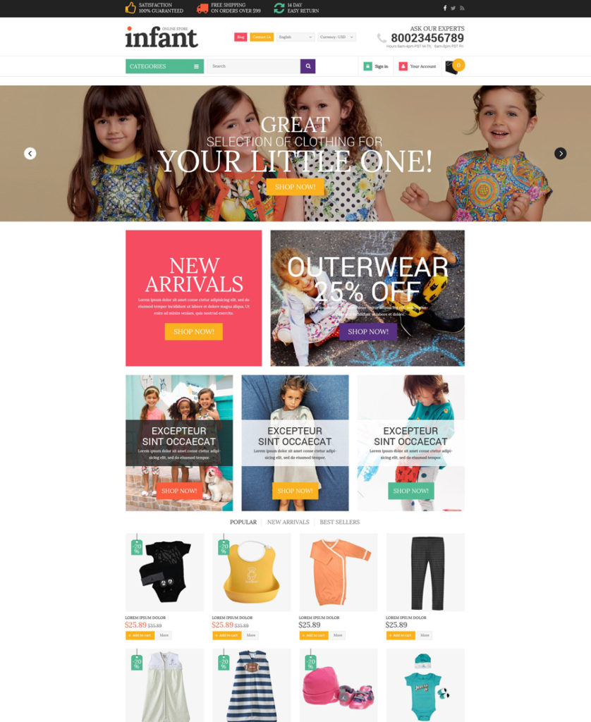 21-baby-store shopify theme