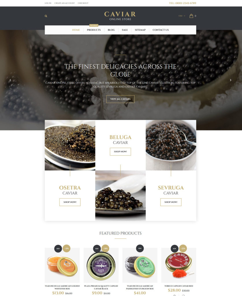 22-caviar shopify theme