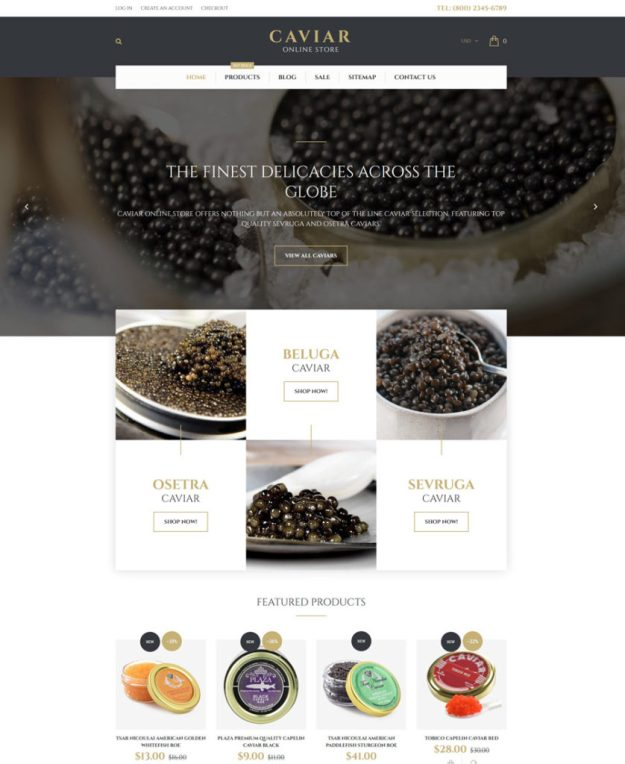 22-caviar shopify theme