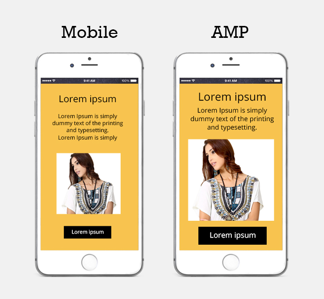 Mobile Optimized AMP Landing Page