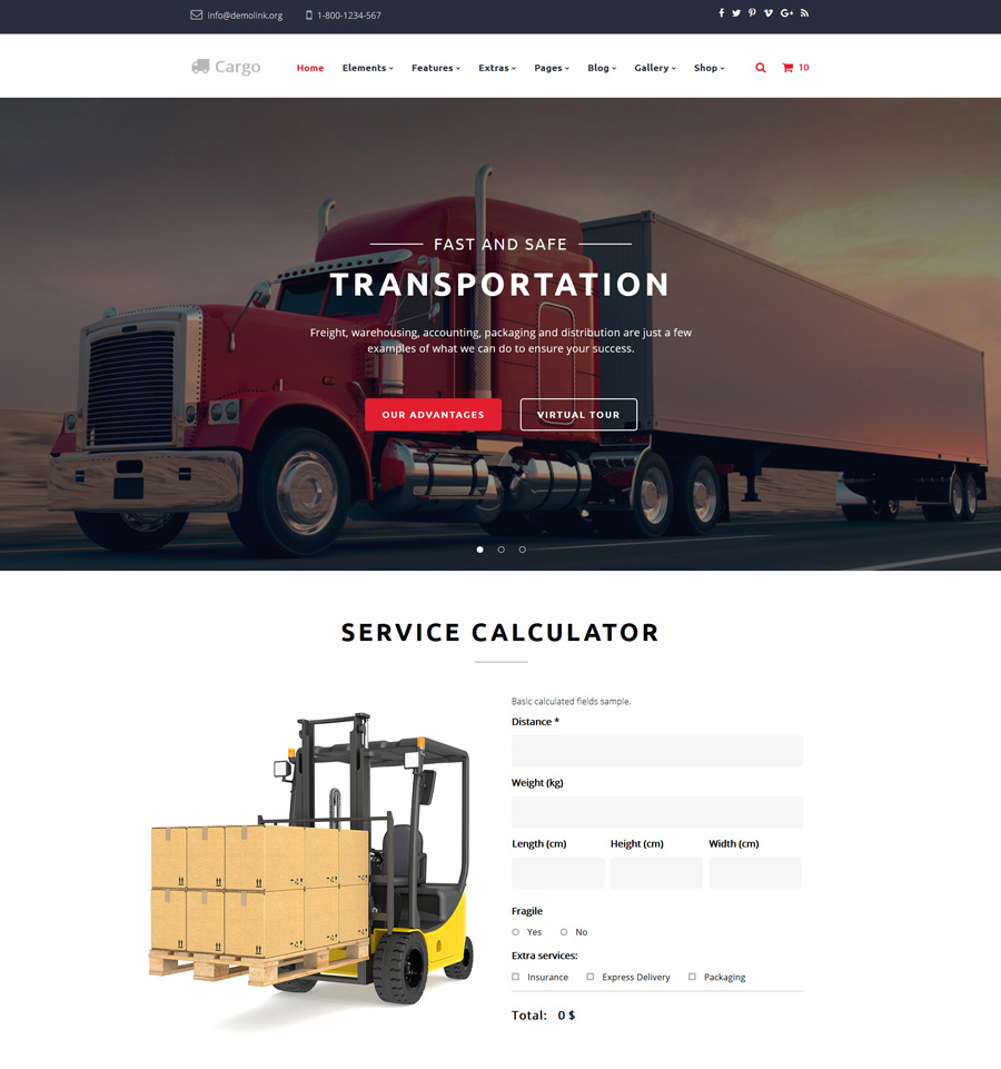 cargo - one of the best multipurpose website templates