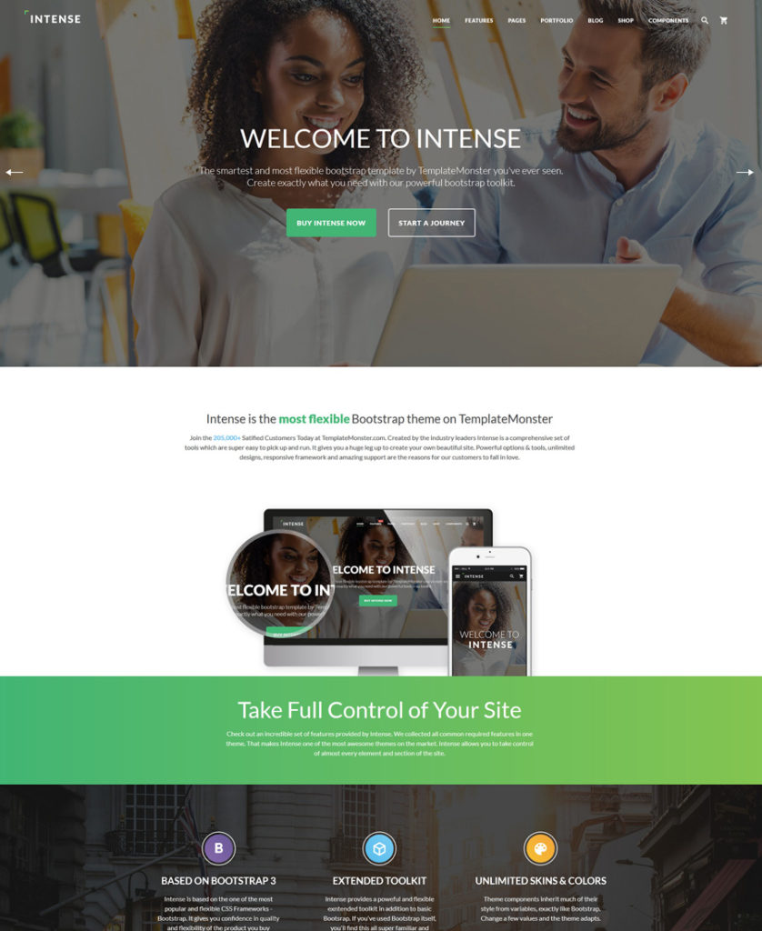 intense - one of the best multipurpose website templates