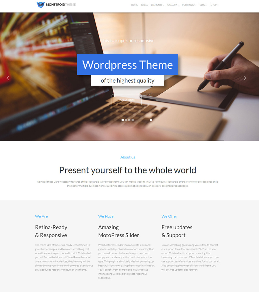 monstroid - one of the best multipurpose WordPress themes