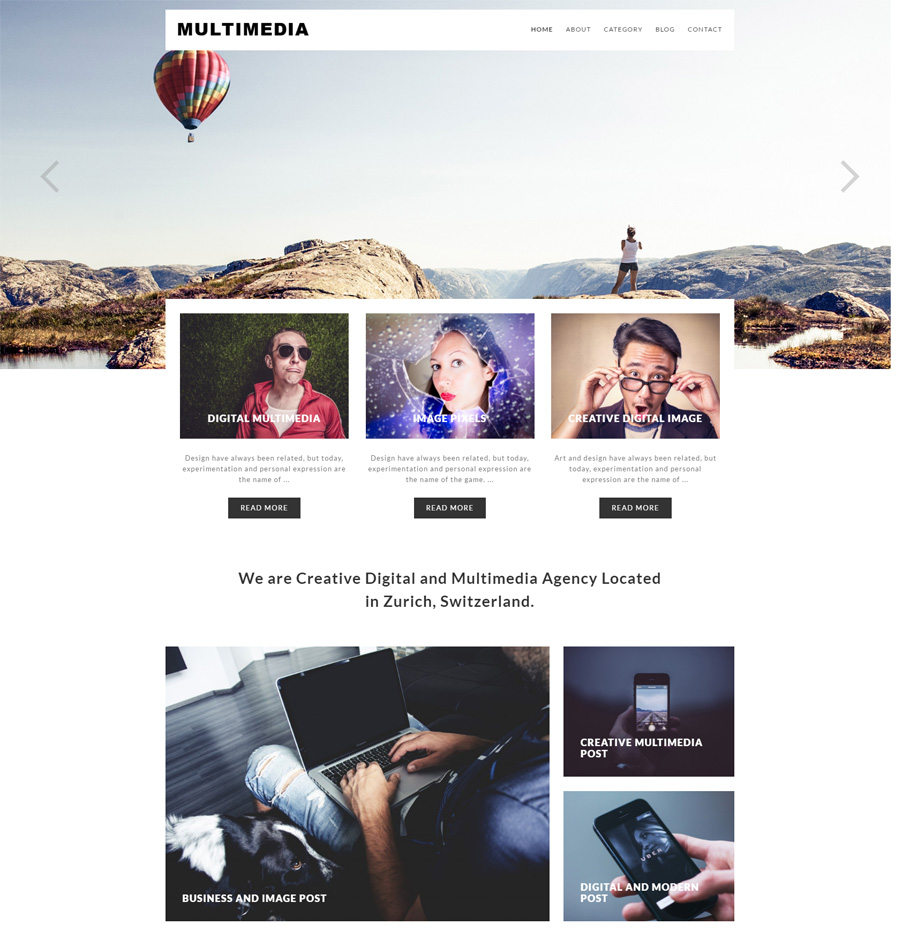 multimedia - one of the best multipurpose WordPress themes