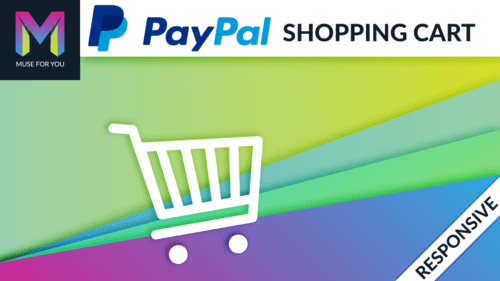 Muse For You - Paypal Shopping Cart Widget - Adobe Muse CC