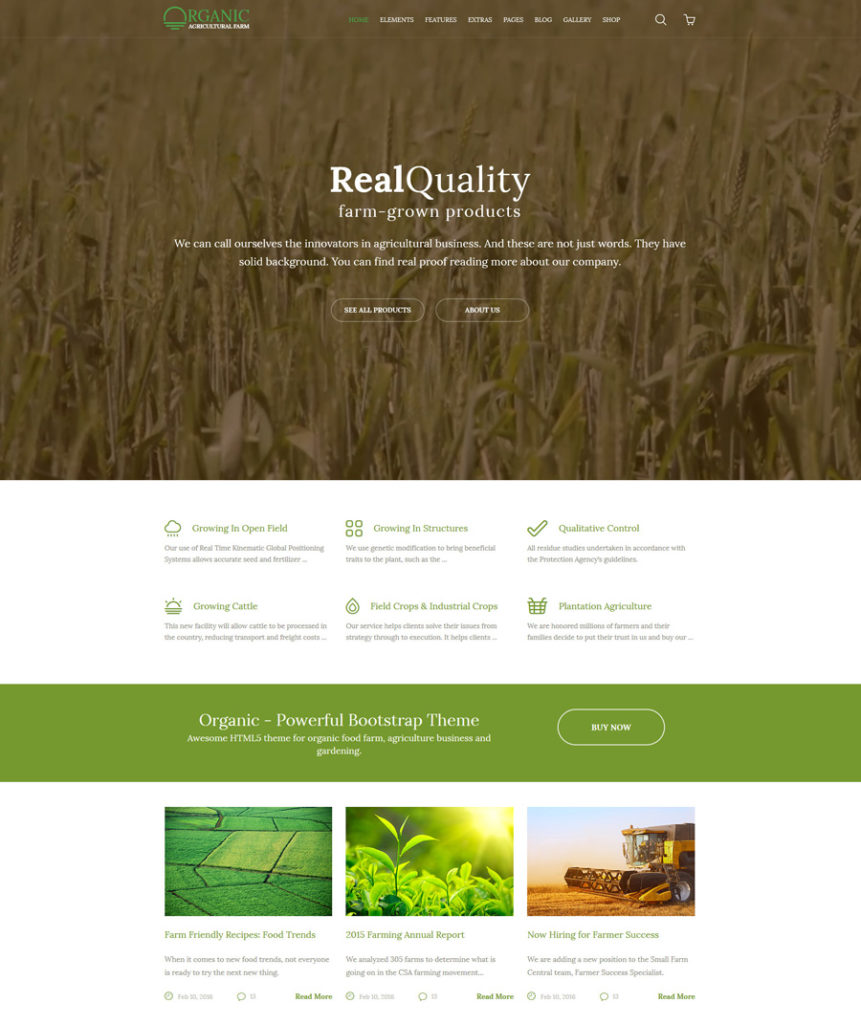 organic - one of the best multipurpose website templates