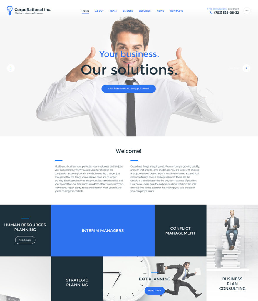 10-corporate responsive HTML5 templates