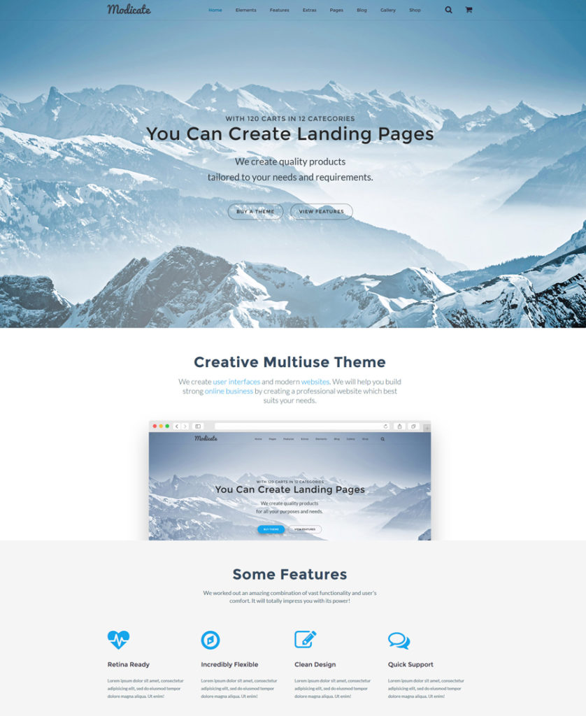 2-modicate responsive HTML5 templates