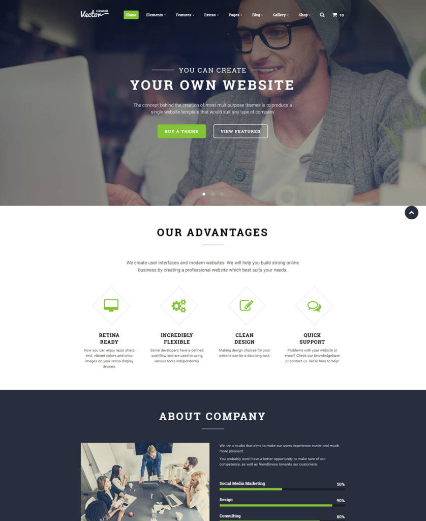 21-grand-vector responsive HTML5 templates