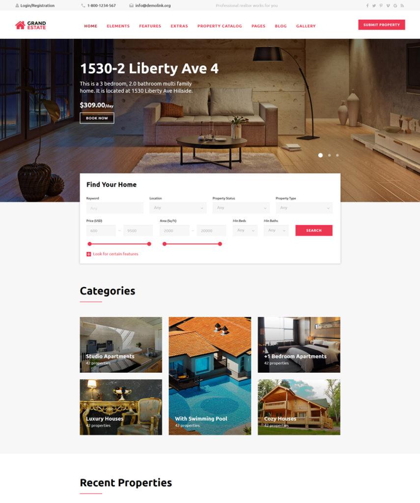 4-grand-estate responsive HTML5 templates