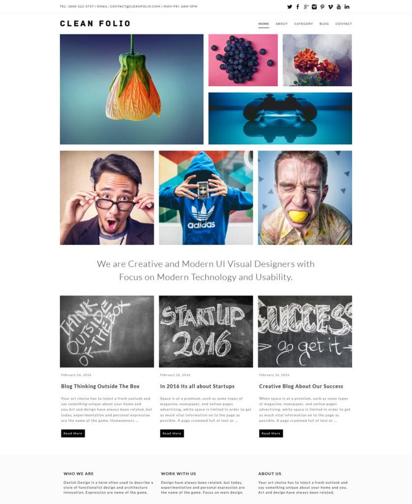 Clean-Folio-Responsive-WordPress-Theme