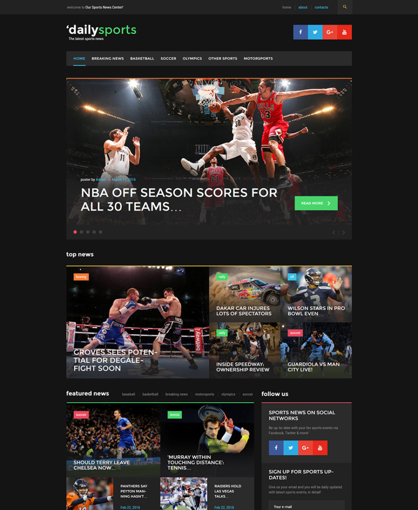 DailySports-WordPress-Theme - responsive WordPress themes