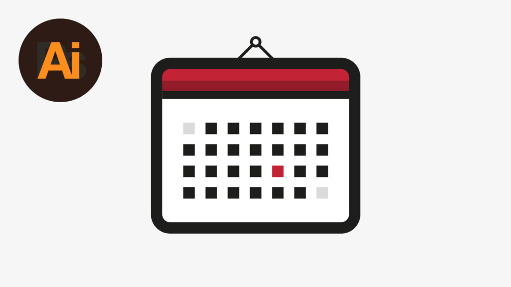 Dansky_Learn How to Draw a Calendar Icon in Adobe Illustrator