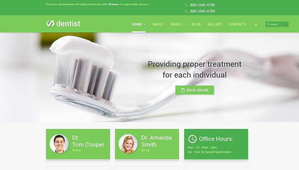 Dentist Joomla 3 template