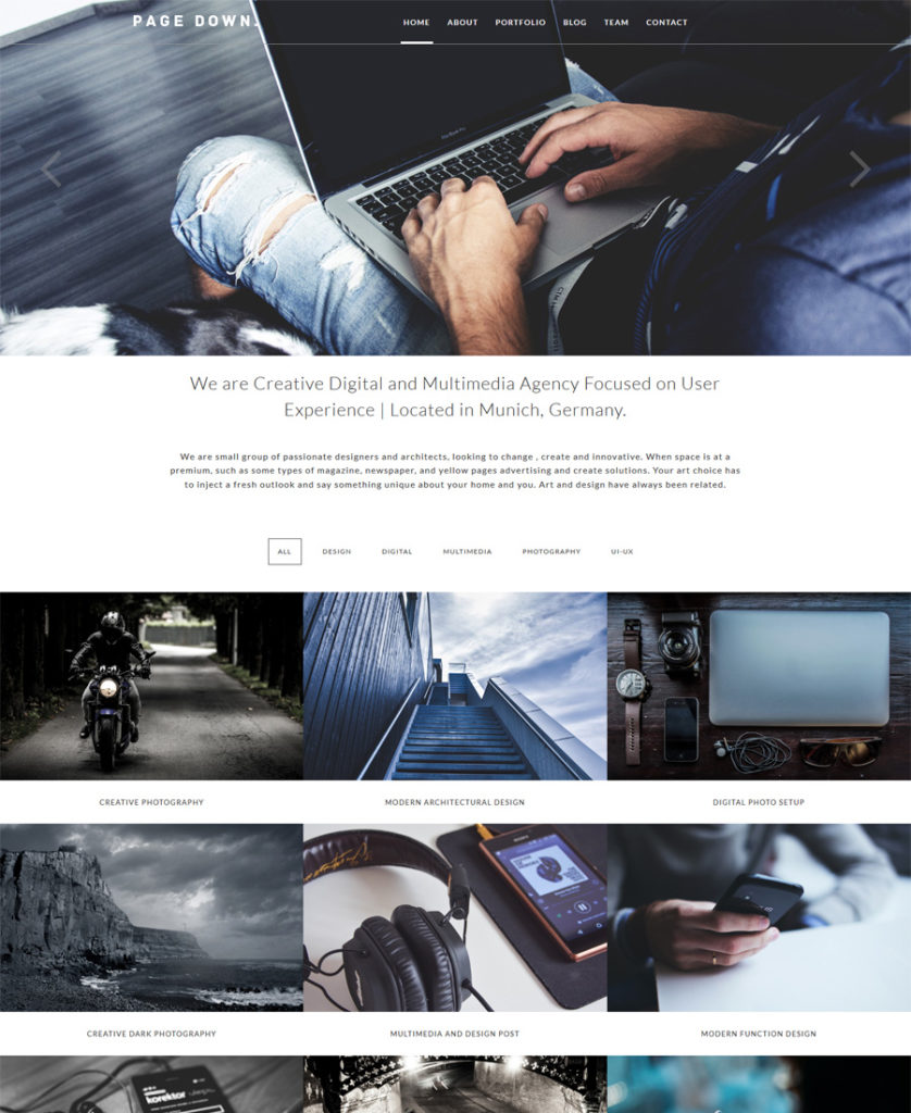 Page-Down-Responsive-WordPress-Theme