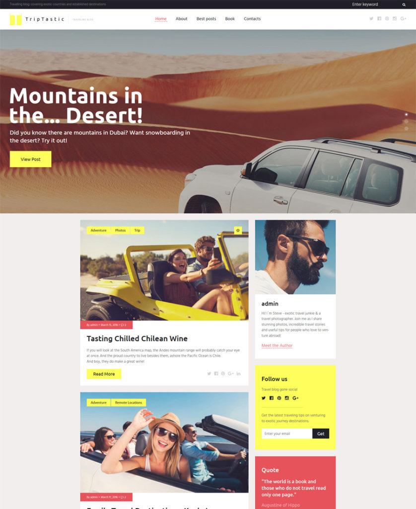 TripTastic---Travel-Blog-WordPress-Theme - responsive WordPress themes