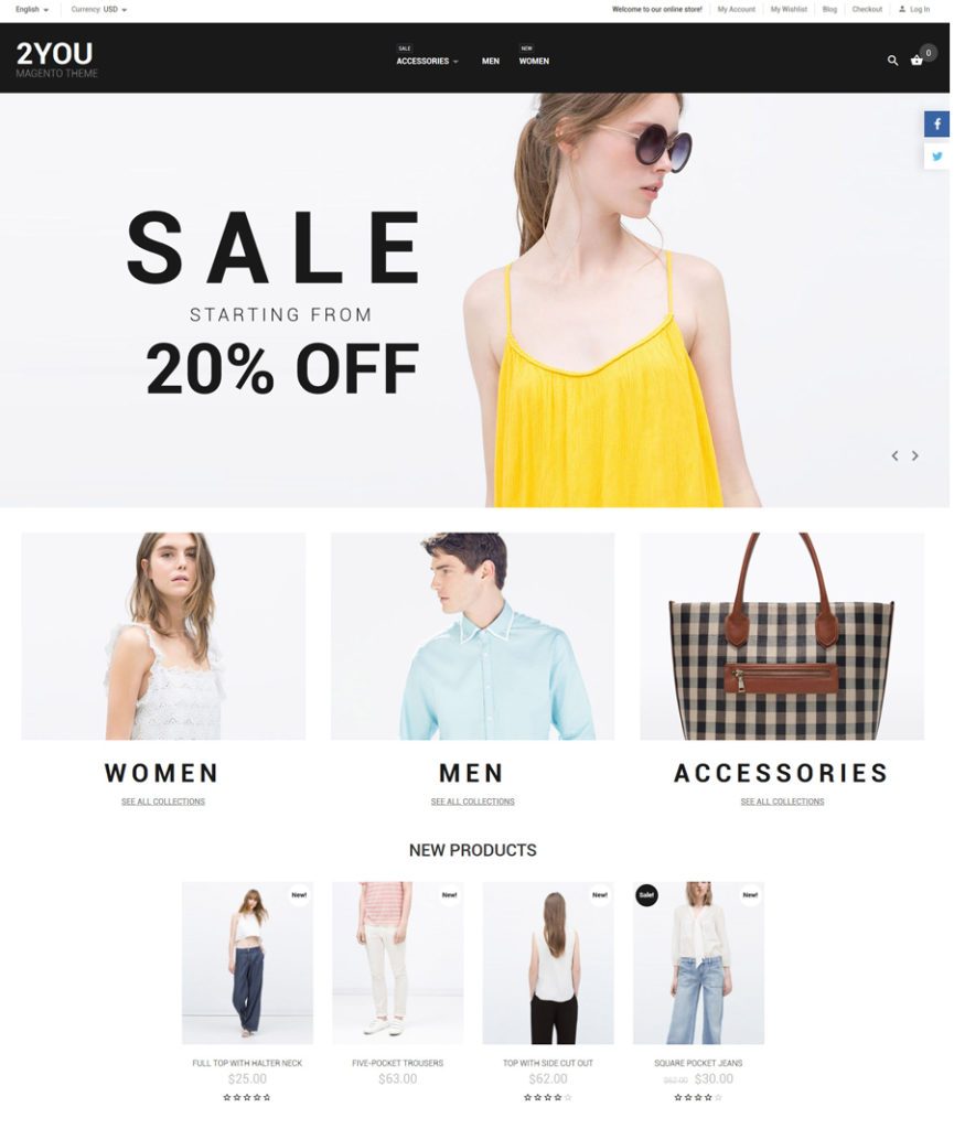 2YOU Magento Theme - responsive eCommerce templates