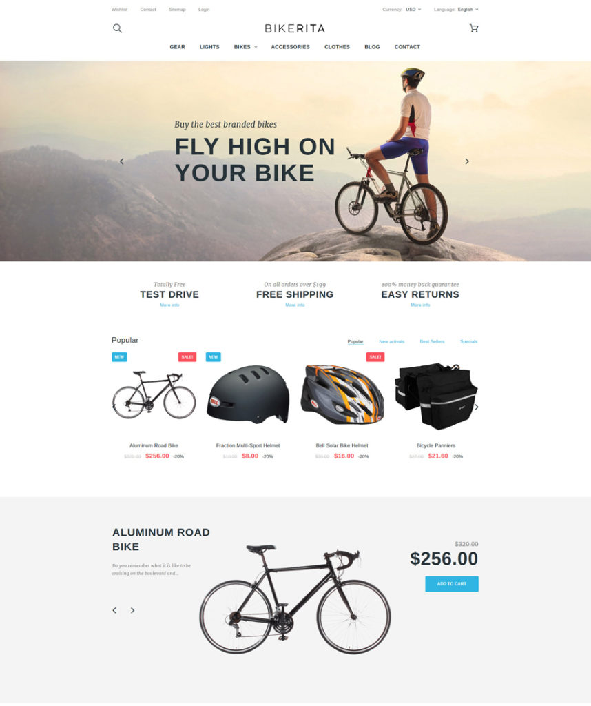 Bikerita - Responsive PrestaShop Theme - responsive eCommerce templates